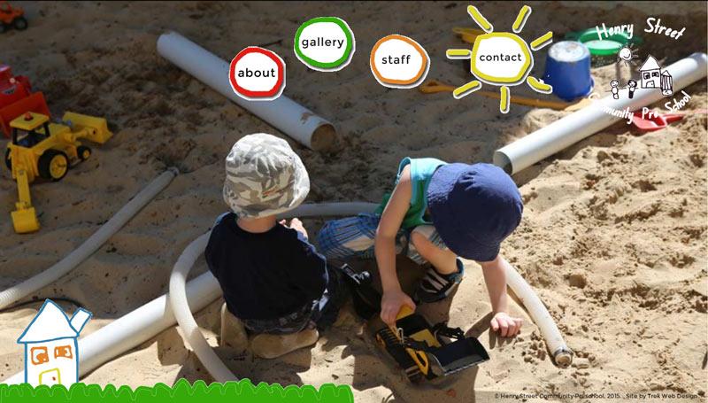 Henry Street Preschool website design Newcastle
