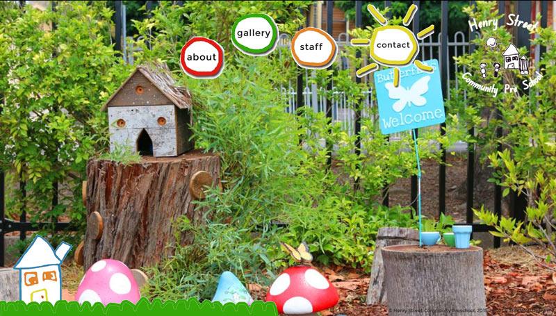 Henry Street Preschool website design
