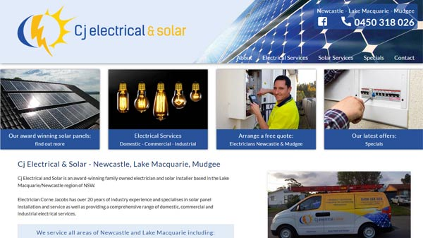 Newcastle electrician website design