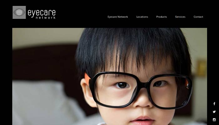 Eyecare Network Optometrist website design