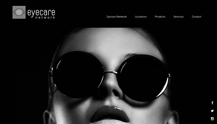 Optometrist website design Sydney - screenshot of website by Trek Web Design