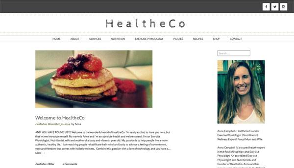 healtheco website screenshot