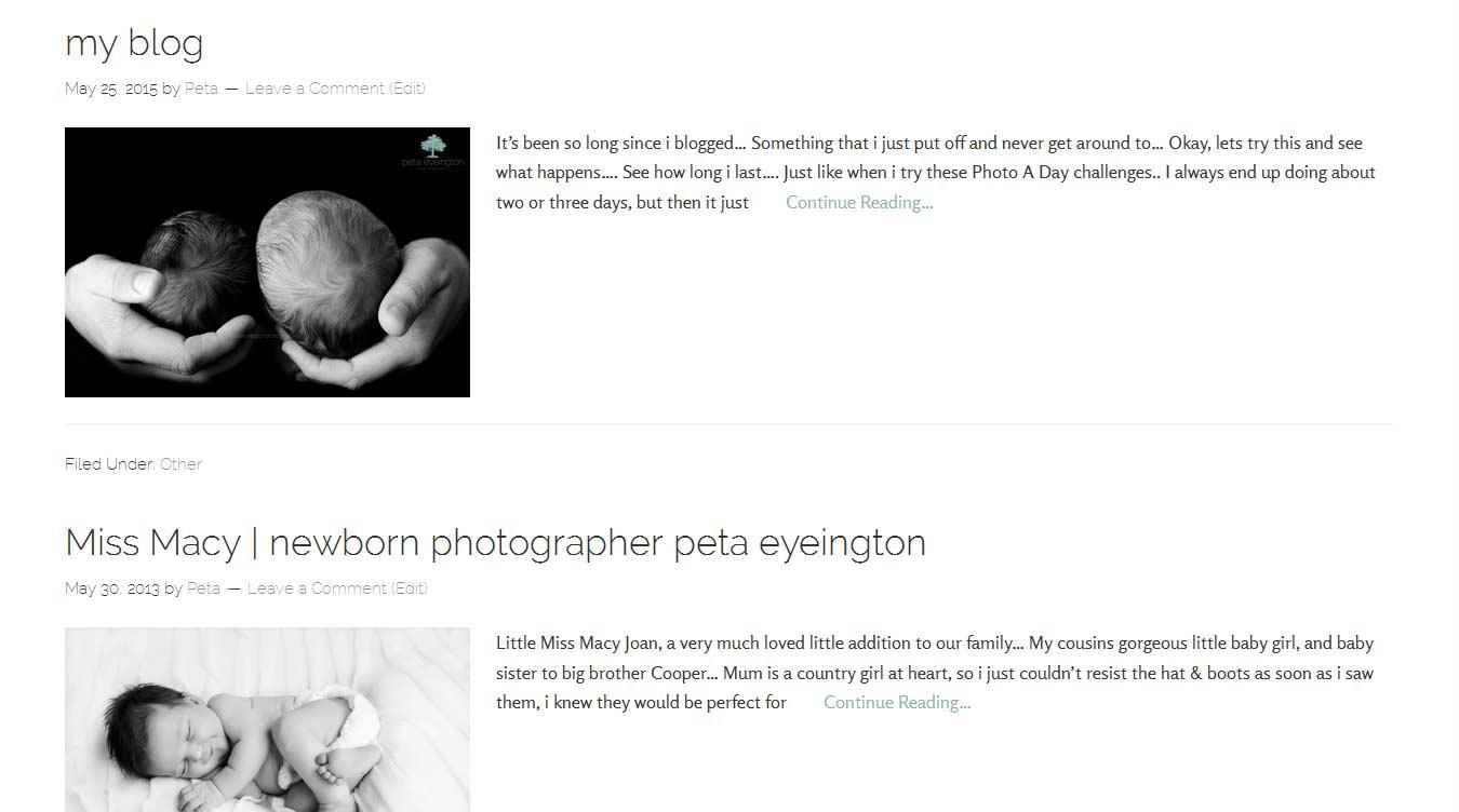 Peta Eyeington Photography screenshot