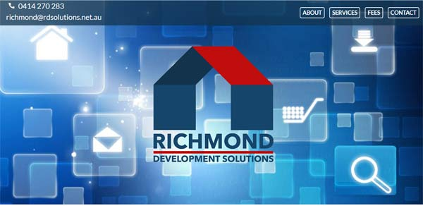 RDS real estate website design screenshot