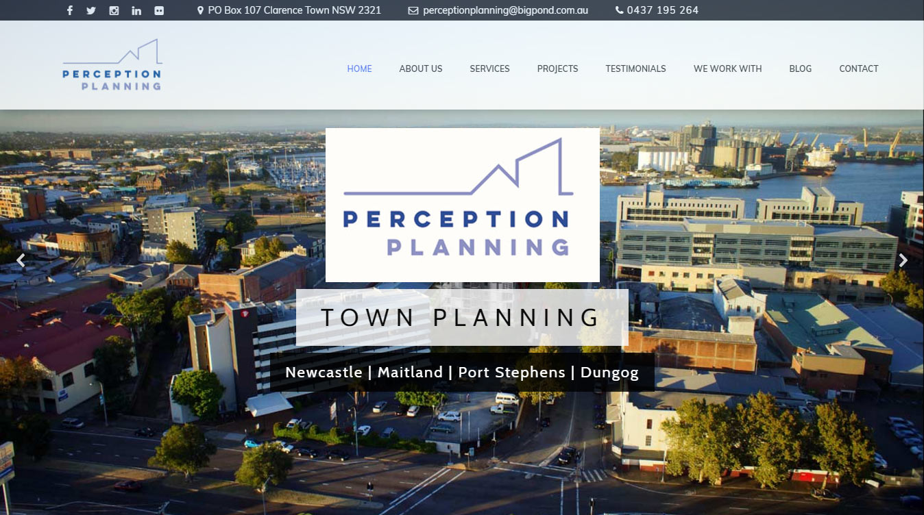 Town Planning Website Design Newcastle