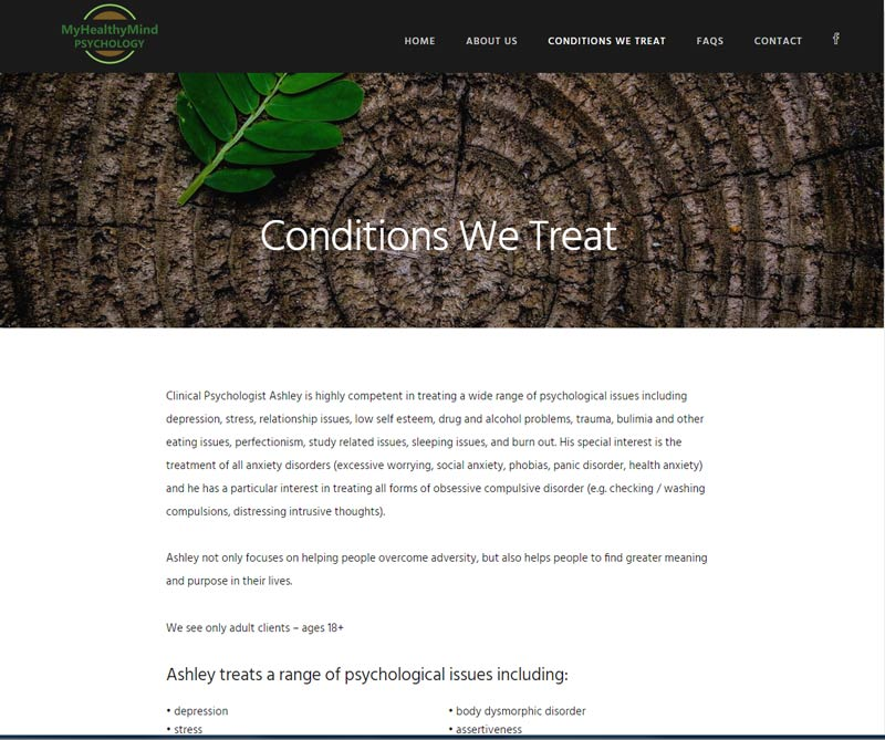 WordPress website for psychologist