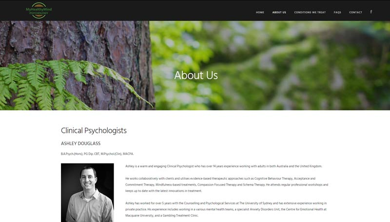Website design for Newcastle Psychology practice