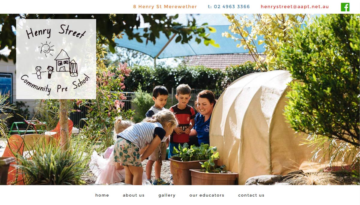 Henry Street community preschool WordPress website design & development