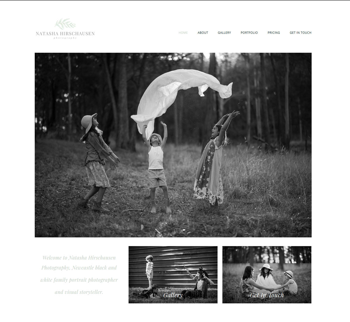 photographer WordPress website design newcastle