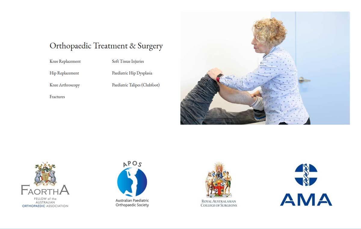 medical website design for Dr Lynette Reece