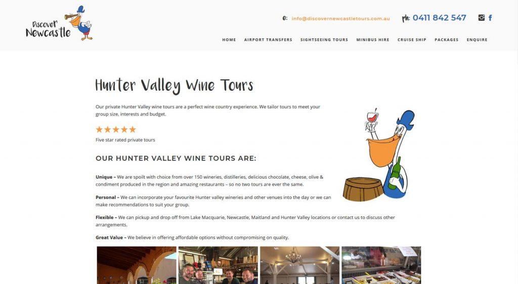wine tours website