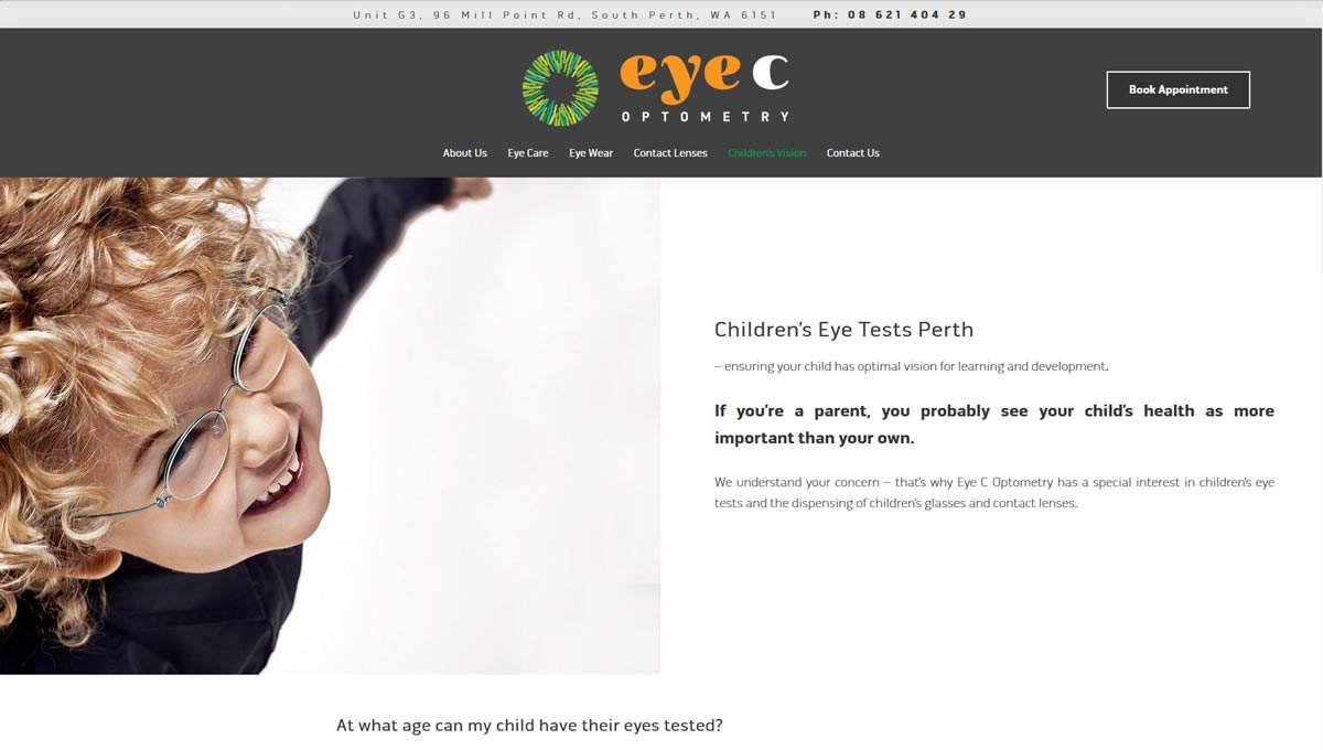 optometry practice website design