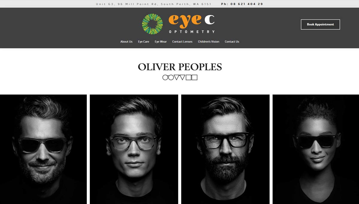 optometrist website design perth