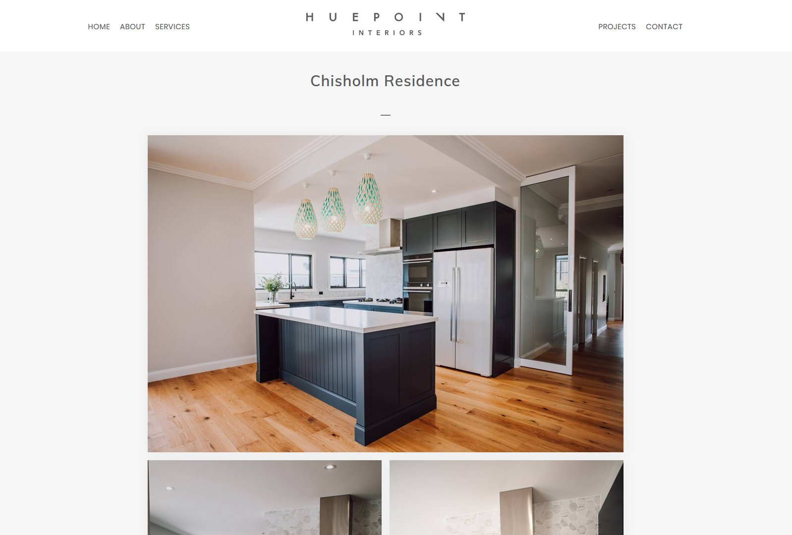 website design fo interior designer newcastle