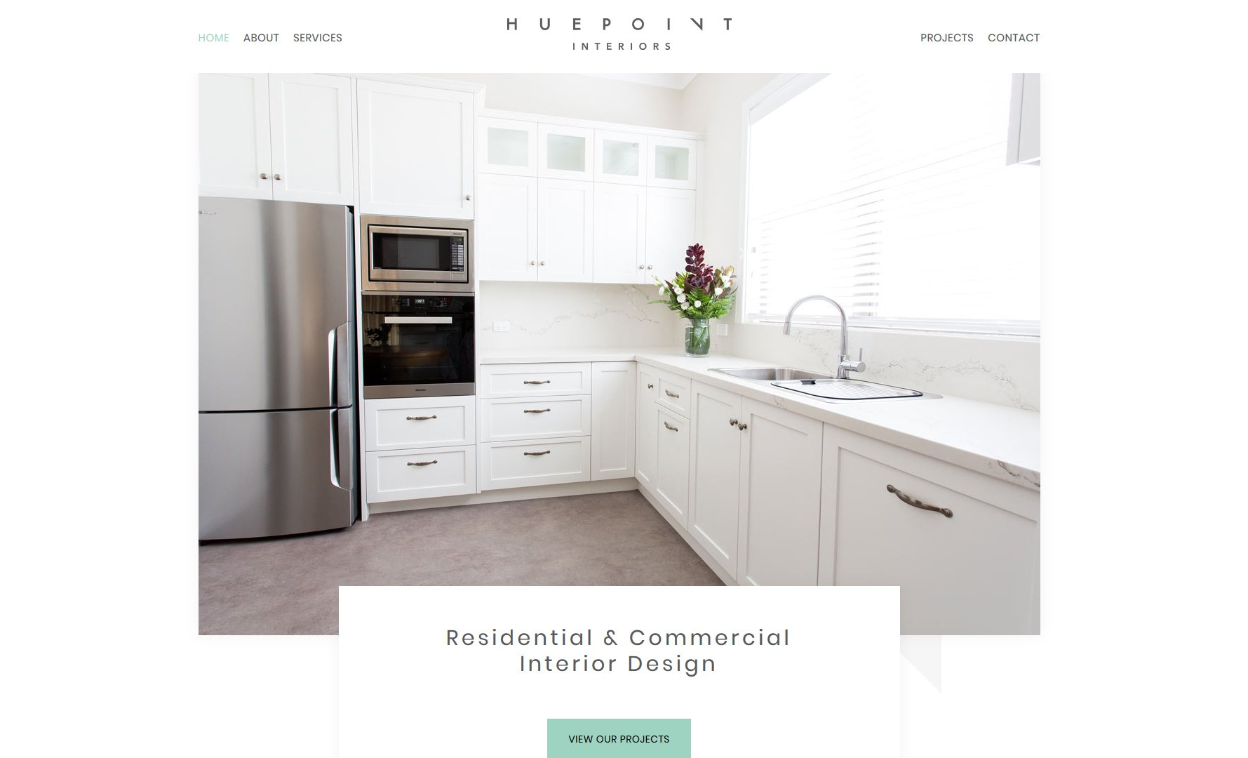 Interior design website designer Newcastle