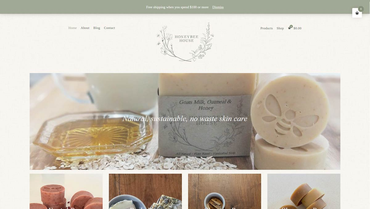 e-commerce website design Newcastle - online beauty store