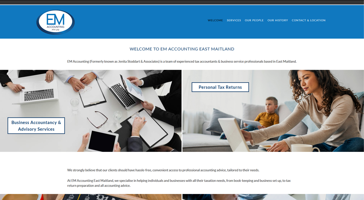 accountant website design maitland