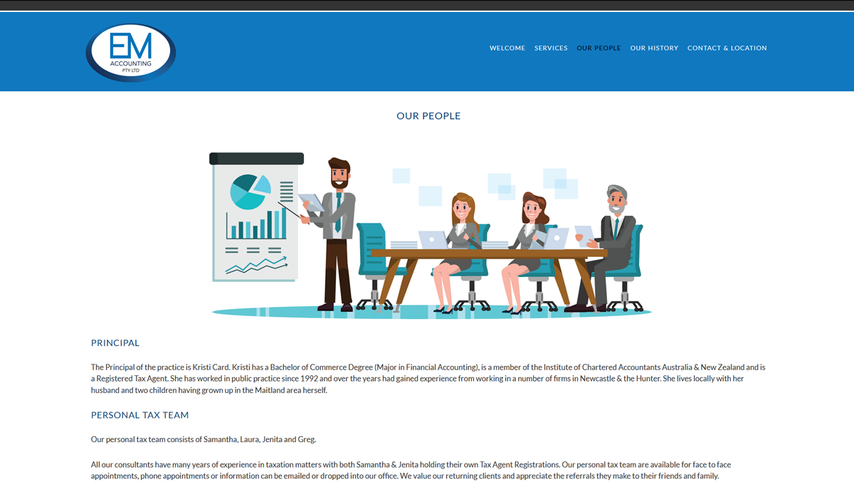 web designer for accountants