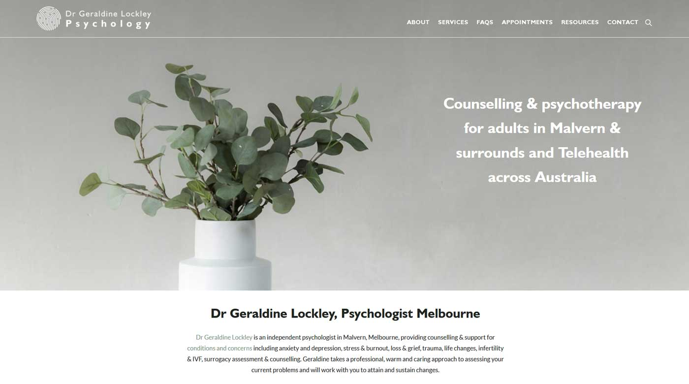 psychology website design