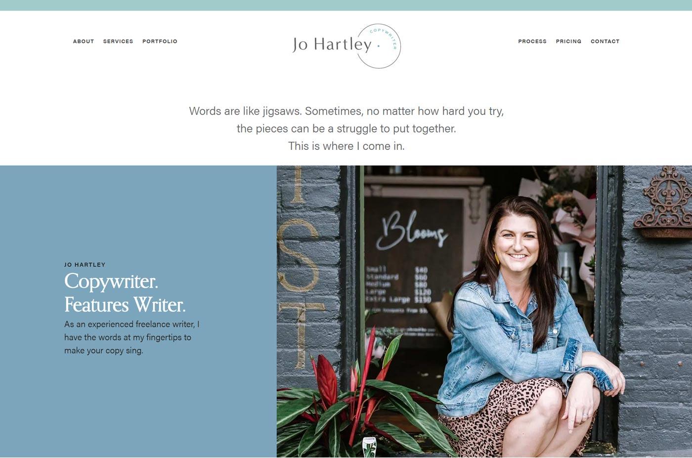 copywriter website design