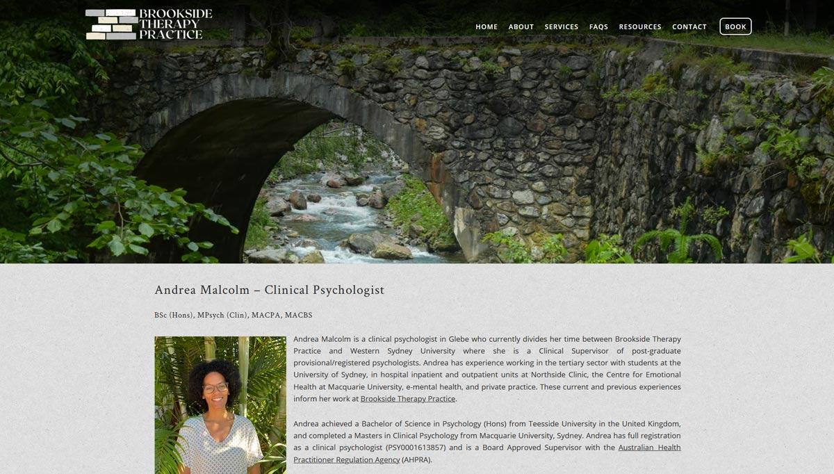 web design for psychologist in Glebe, sydney
