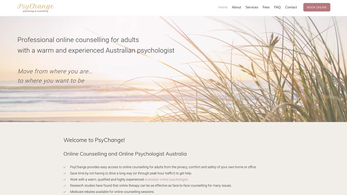 online counselling website design and development